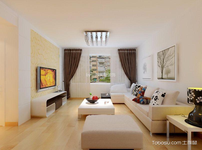海亮艺术华府100平米简约风格二居室装修效果图