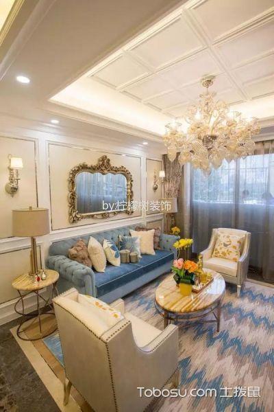 洲岛长滩美式风格三居室装修效果图