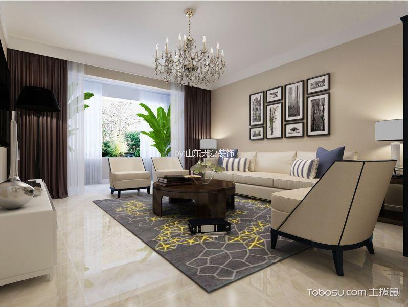 西苑景润园122平米简约风格三居室装修效果图
