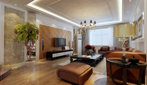 和平山庄180平方简欧风格四居室装修效果图