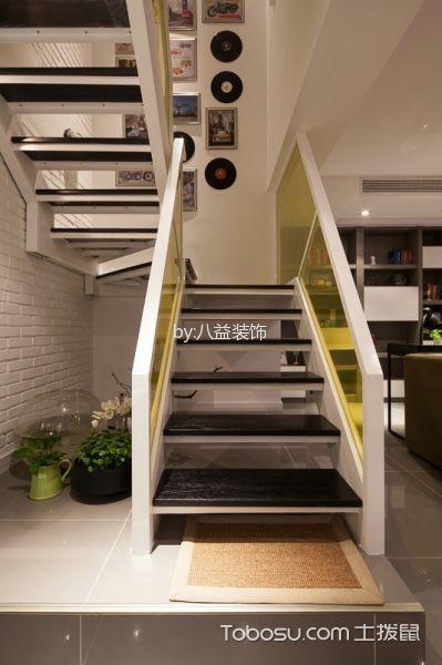 玄关黑色楼梯现代风格装修图片