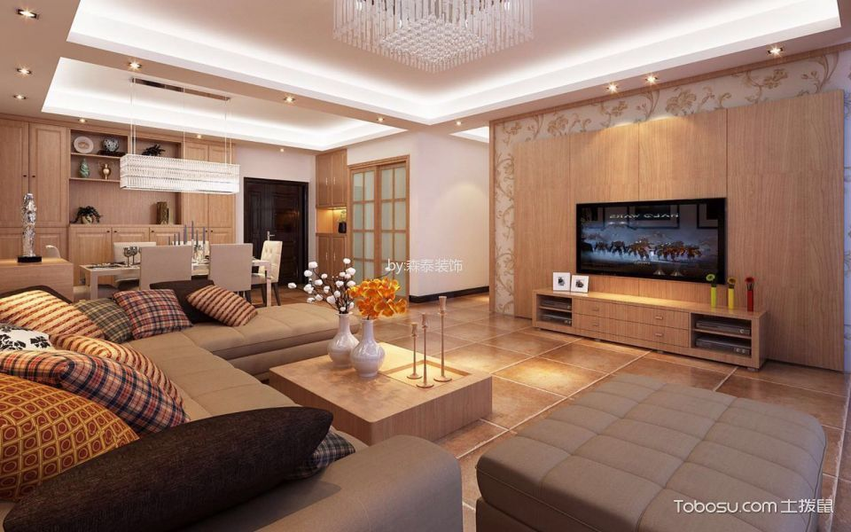 南安海联套房110平米现代简约风格装修效果图