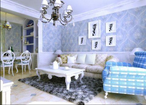 鑫苑大都汇103平米地中海风格三居室装修效果图