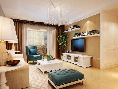 山水云房118平米简欧风格三居室装修效果图