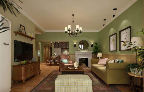 世贸香槟湖100平米田园风格二居室装修效果图