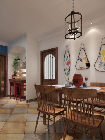 绿都万和城120平米新中式风格三居室装修效果图