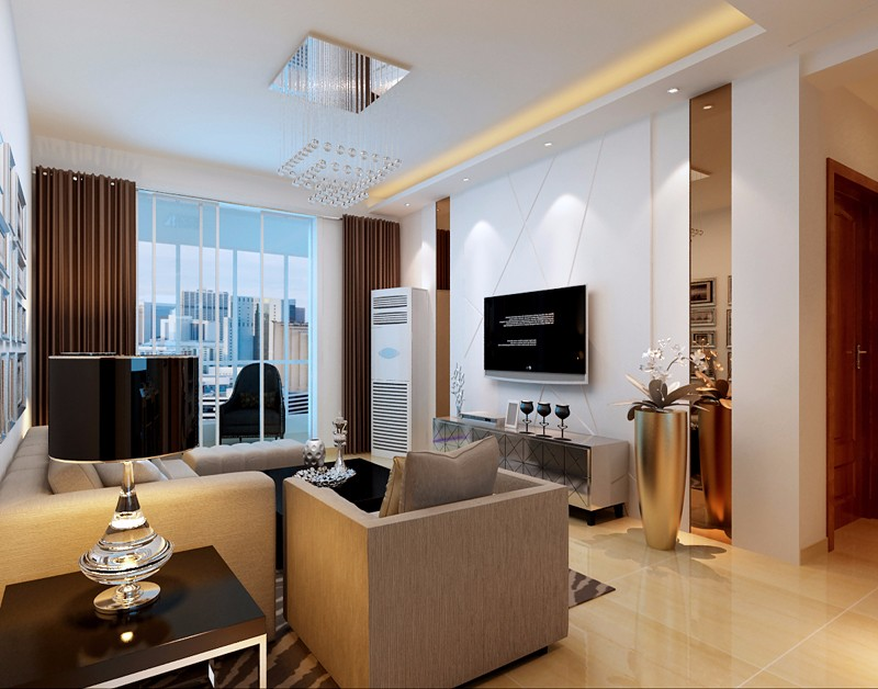 2室1卫2厅90平米现代简约风格