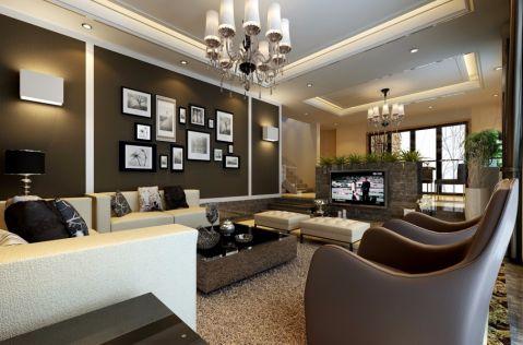 私人别墅现代中式风格装修效果图