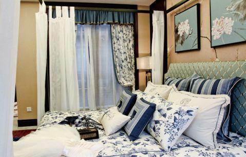 2020新中式卧室装修设计图片 2020新中式窗帘装修图