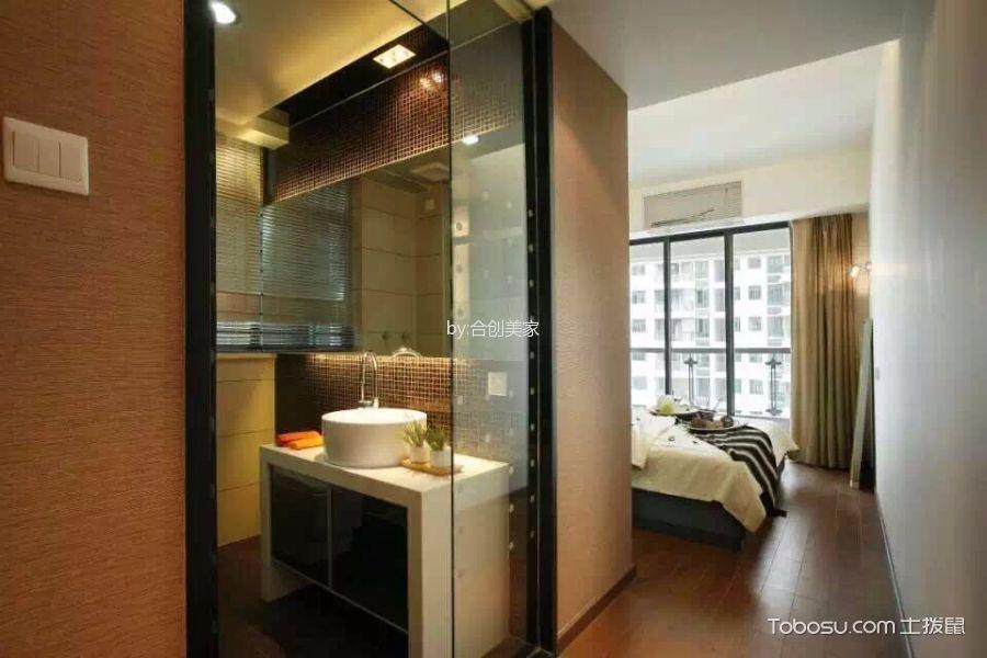 现代风格110平米二居室房子装修效果图
