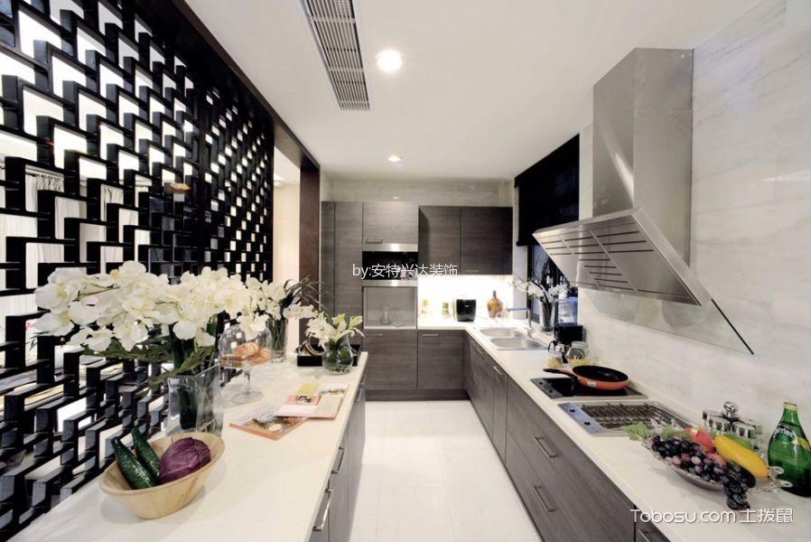 厨房咖啡色隔断现代风格装饰效果图