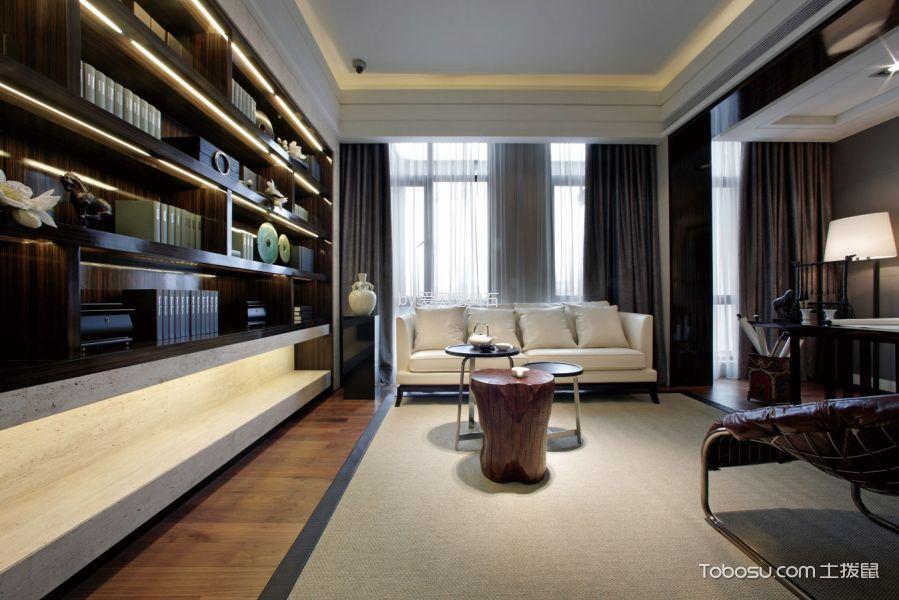 书房灰色窗帘欧式风格效果图