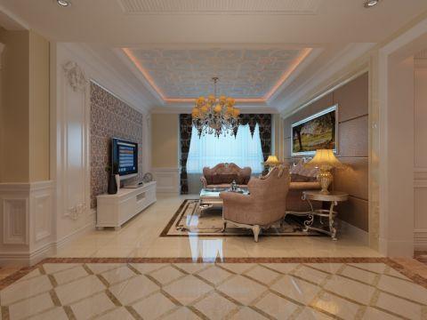 颐和星海两室一厅简欧风格效果图