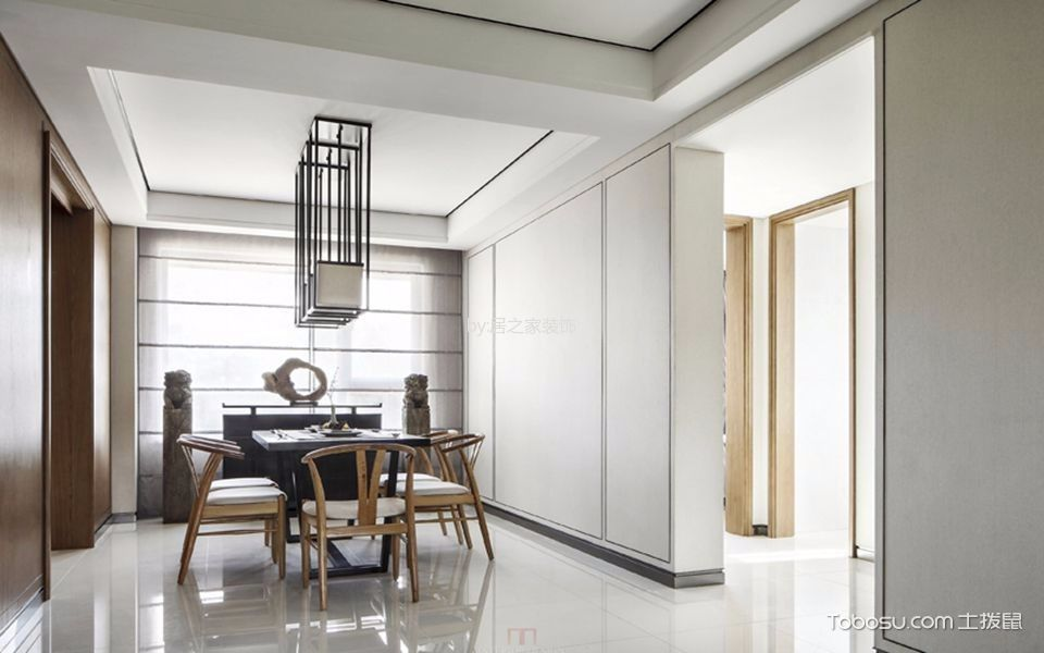 麒龙溪园110平米现代简约风格三居室装修效果图