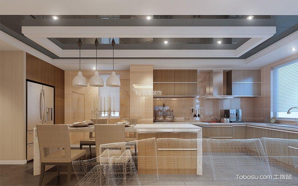 厨房_融信大卫城240平米现代简约风格装修效果图