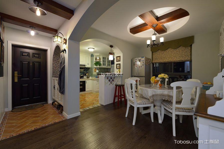 餐厅 门厅_望湖城100平米地中海美式风三居室装修效果图
