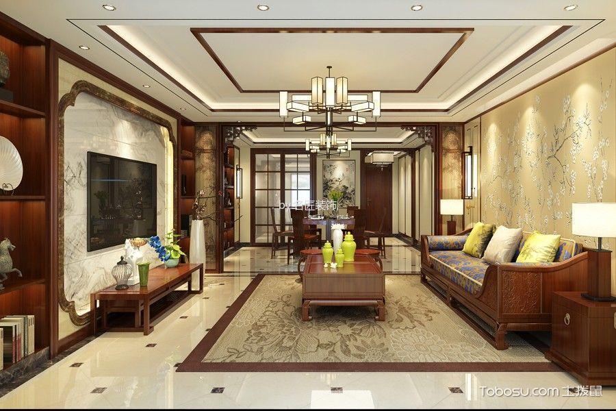 芜湖世茂滨江花园233平米新中式风格效果图