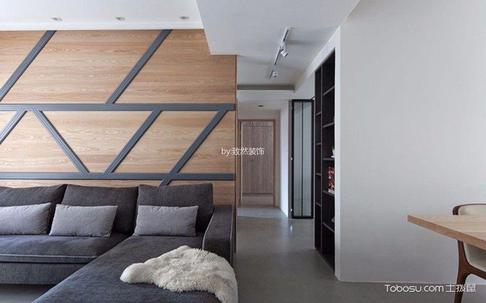 广州天河山庄80平米现代风格装修效果图