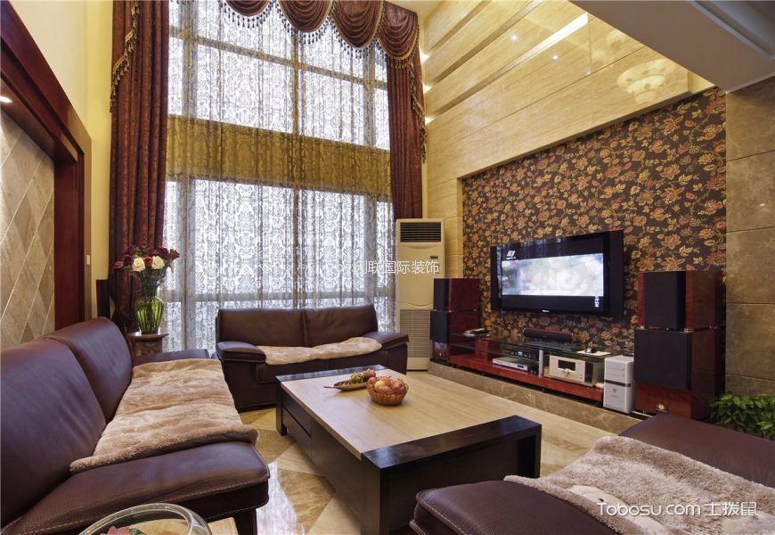 中锐尚城150平米欧式风格三居室装修效果图