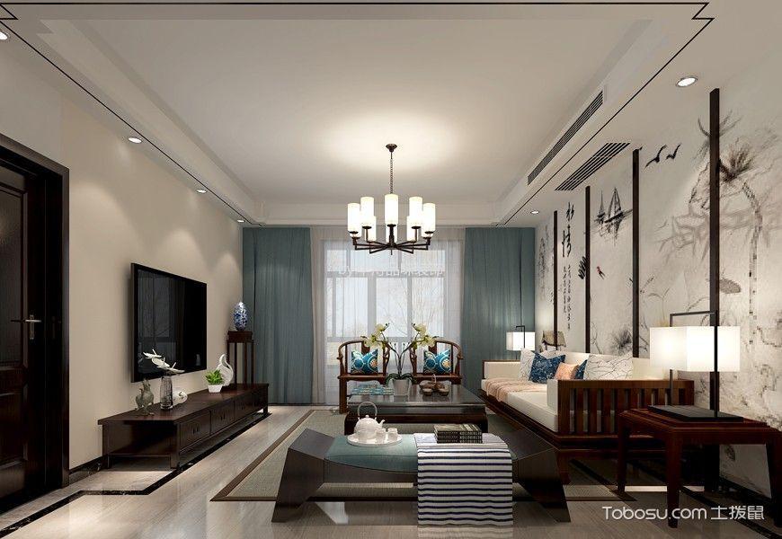 国华天玺160平米简约中式风格四居室装修效果图