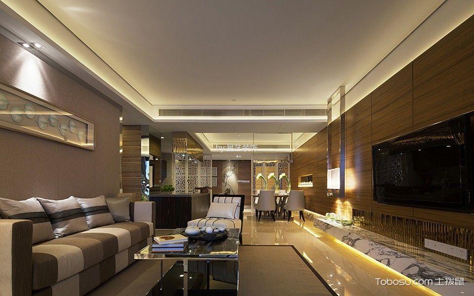 五岭国际160平米新中式风格四居室装修效果图