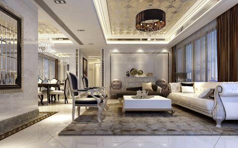 本案设计概念是对于具有高贵气质与慑人风采的女性形象的想象,风格奢华而不奢靡,贵气而不张扬,简化的古典线条,带着一种悠闲舒适感。空间富有的钻石绒硬包以及镜面对空间的延伸,让空间的质感细腻的呈现出了别样的奢华度。大面积的珠光白漆饰面增加了空间的温婉之气,极富心思的家具配饰,隐约的显露了她的内在美。设计师想让样板空间能让人感觉娴静舒适,让它高贵优雅,倾城倾国之气弥散开来。
