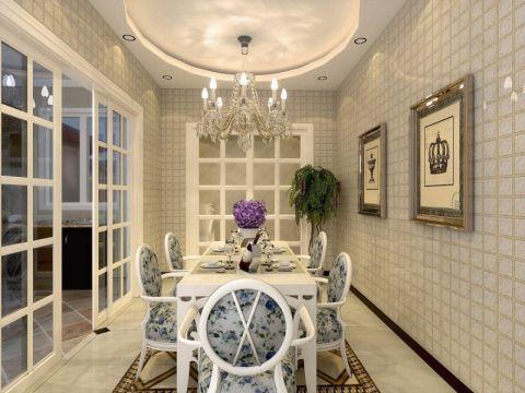 凤凰城二期120平米欧式风格三居室装修效果图