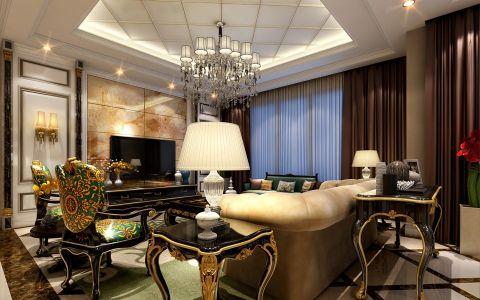 星河国际160平米新古典风格三居室装修效果图