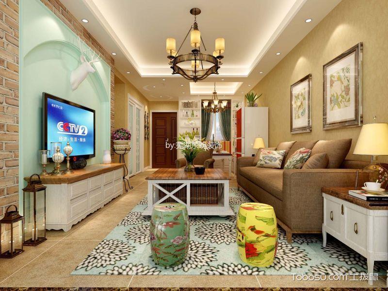 金色水岸田园风格两居室装修案例