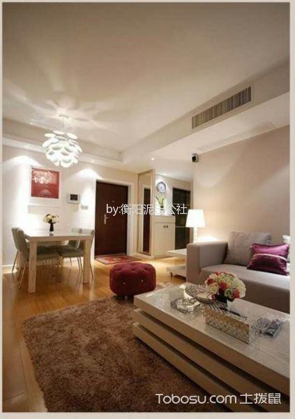 80平二居室现代简约风格装修效果图