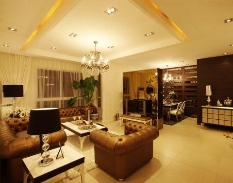 绿都万和城中式风格两室一厅装修案例