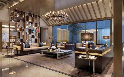 芜湖公园大道别墅260平现代风格装修案例效果图