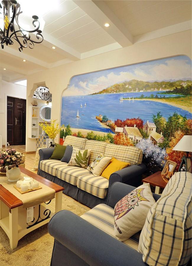 2室1卫1厅96平米地中海风格