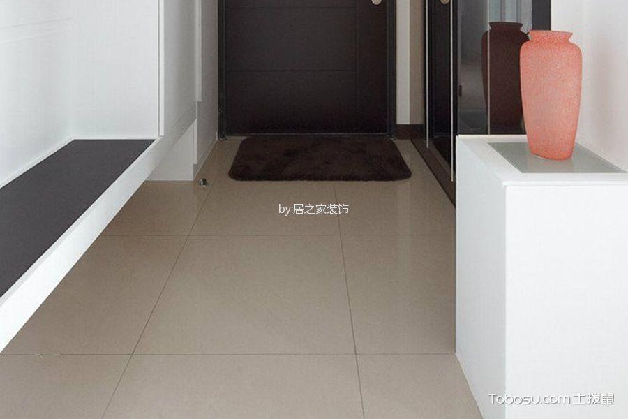 玄关灰色地砖简约风格装潢设计图片