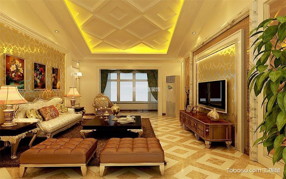 莱茵湾小区二居室110平简欧风格装修效果图