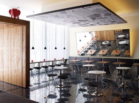 万达广场饮品店工装装修设计图