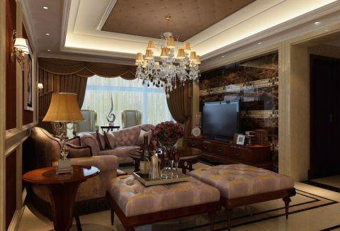 世茂香槟湖欧式四居室装修效果图