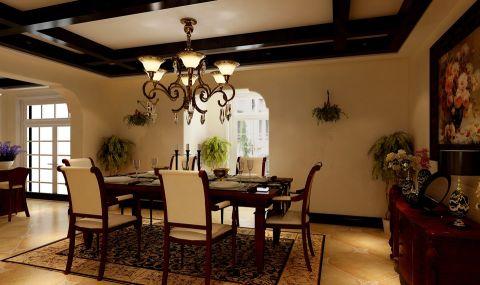 餐厅吊顶美式风格装饰图片