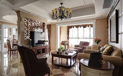 客厅新中式风格装潢效果图