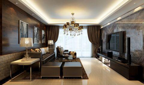 玉兰广场现代简约两居室装修效果图