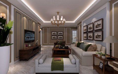财富官邸118平米简约风格装修效果图