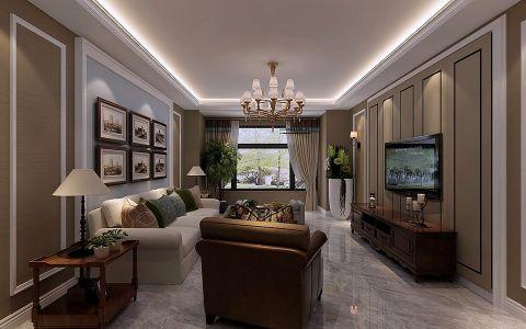 客厅吊顶简约风格装潢设计图片