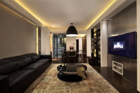 金桥澎湖湾120平三居室现代简约风格装修效果图
