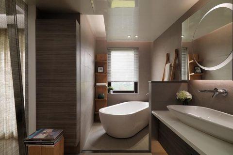 卫生间背景墙现代简约风格装饰图片