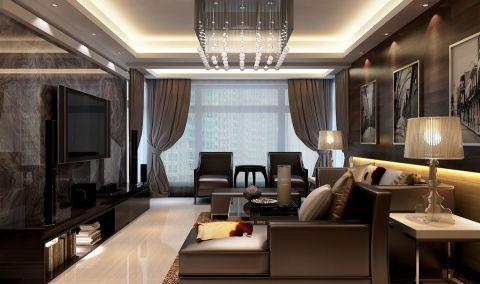 金域丹堤现代三居室装修效果图