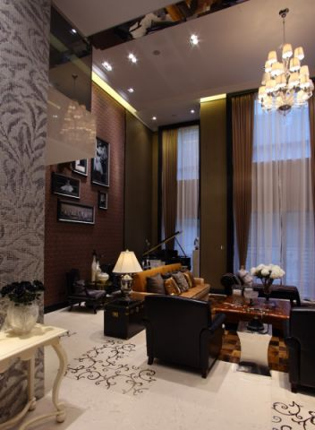 客厅新中式风格装饰设计图片