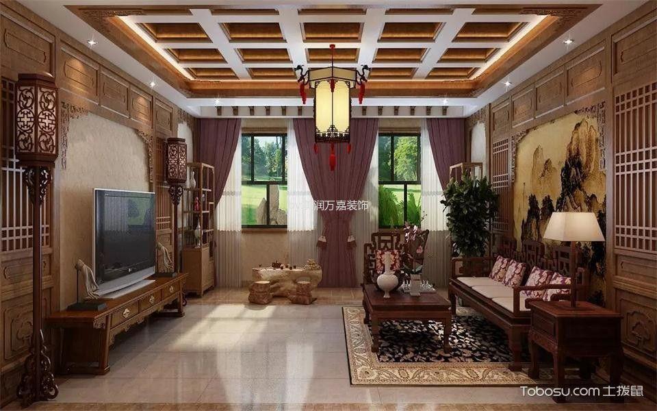 馨港庄园120平中式别墅装修效果图