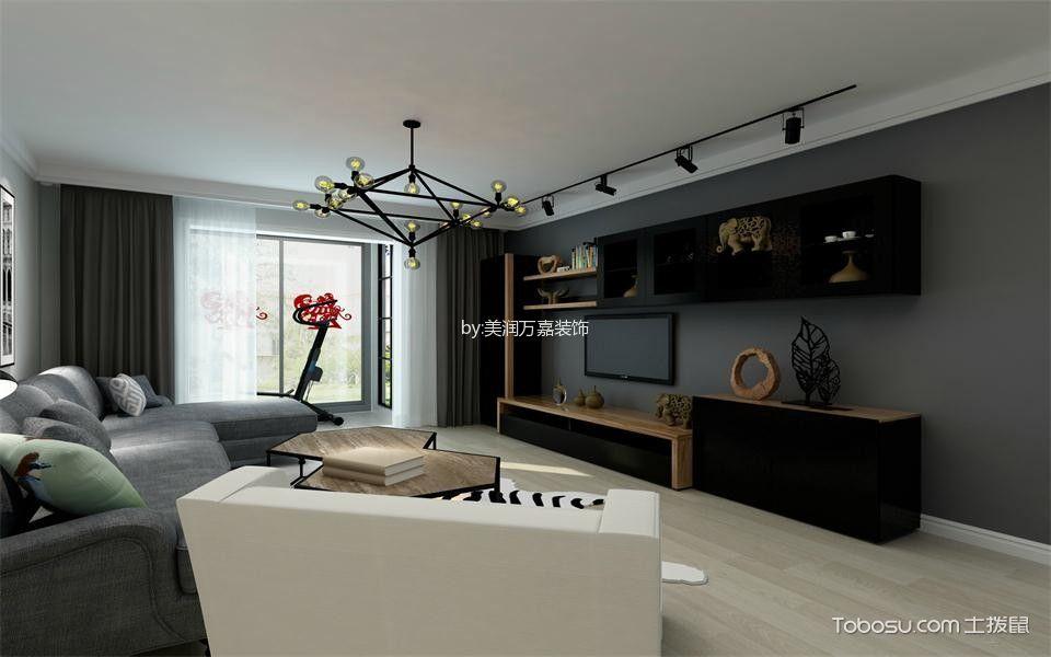 天鴻美域110平米北歐風格三居室裝修效果圖