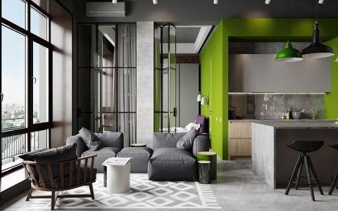 2018后现代120平米装修效果图片 2018后现代三居室装修设计图片