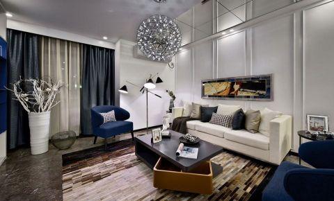 水木清华120平米简约现代风格复式五室两厅装修效果图